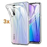 Transparente Silikonhülle TPU für REALME X2 PRO - Oppo Reno ACE, Handyhülle Premium Kratzfest TPU Durchsichtige Schutzhülle, Superdünne 0,33 mm, (Pack 3X)