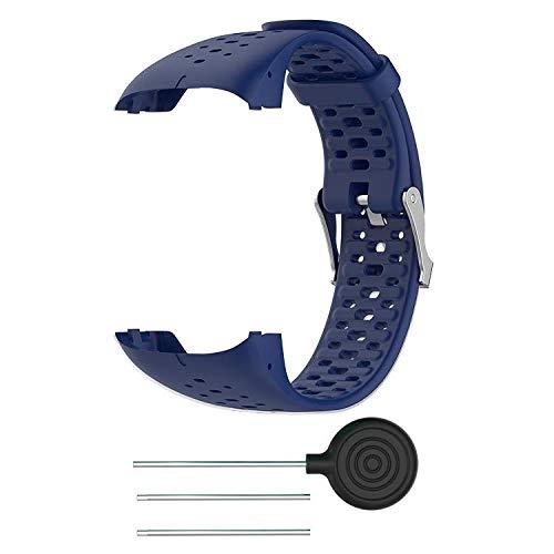 INF Correa de Repuesto Compatible con Reloj Deportivo Polar M400   M430, Correa Intercambiable, Correa para Accesorios, Correa para Reloj Deportivo, Silicona, Azul