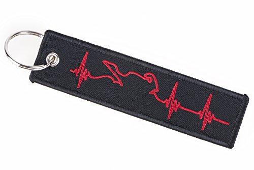 Besondere Lebenslinie, Pulsanzeige, Lebenszeichen Medizin Schlüsselband, Schlüsselanhänger in Rot und Schwarz für Wohnungsschlüssel, Autoschlüssel und vieles mehr!