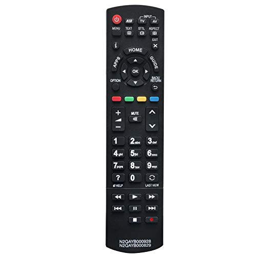 VINABTY N2QAYB000928 N2QAYB000829 Ersatz Fernbedienung passend für Panasonic TV TX-42AS740B TX-55ASW754 TX39AS650E TX-39ASW654 TX-40AS640B TX-40AS640E TX-40ASR650 TX-40AX630B