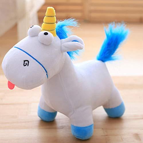 DOUFUZZ Película Despicable Me Agnes Mascota muñeca Felpa Unicornio Caballo Relleno Animales niños Juguetes cumpleaños Regalo 35cm Azul