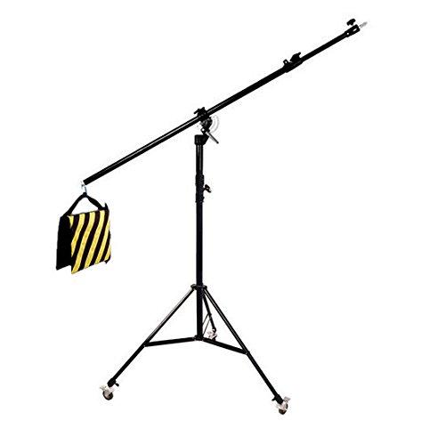 Bresser F001609 Stativo per luci BR-LB300 con Braccio Orientabile e Ruote
