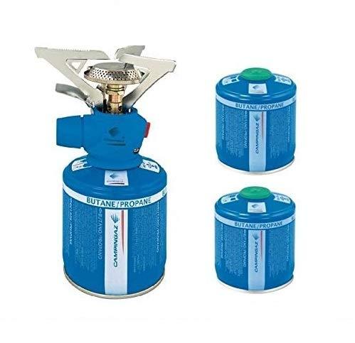 ALTIGASI Twister Plus PZ Réchaud à gaz de camping – Marque Campingaz + 2 cartouches à gaz CV 300 avec système amovible, produit idéal pour le camping