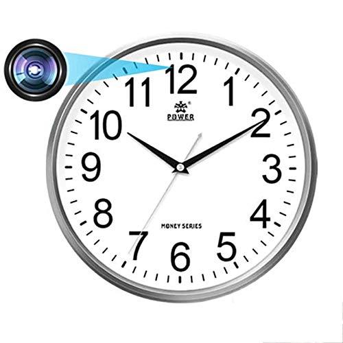 Tuya - Reloj digital inteligente, cámara IP oculta WiFi inalámbrica, 1080P IR visión nocturna para el hogar, vigilancia de seguridad para el hogar, monitor de bebé, reloj