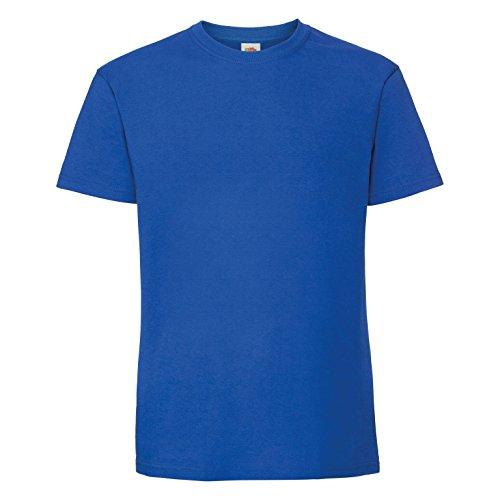 Fruit of the Loom - Camiseta de algodón para Hombre (L/Azul eléctrico)