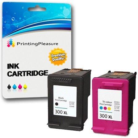 Printing Pleasure KIT 2x Sostituzione per HP 300XL Cartucce d'inchiostro compatibili per HP Deskjet D1660 D1663 D2530 D2545 D2560 D2660 D5560 F2420 F2480 F4210 F4240 F4280 F4580 Photosmart C4780 C4680