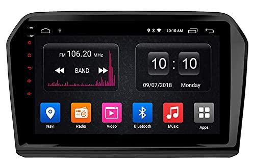 Compatible con VW Jetta 2013 2014 2015 2016 2017 Navegación GPS, Sistema De Navegación Estéreo para Automóvil Android SWC 4G WiFi BT USB Mirror Link Carplay Integrado(2+ 32G)