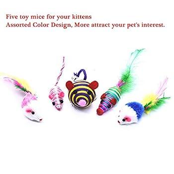 Cadosoigh Jouet Chats 20 pièces Jouets pour Chat Jeux Chat Laser Chat Jouet Kitty Jouets Kitten Toys Ensemble de Cadeau pour Chat Chat Jouant au Ballon Rat Jouet