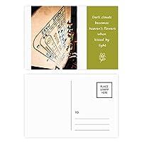 チップのギャンブルゲームの写真 詩のポストカードセットサンクスカード郵送側20個