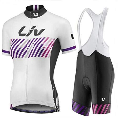 Hplights Traje de Ciclismo Mujer Ciclismo Conjunto de Ropa + Culote Pantalones...
