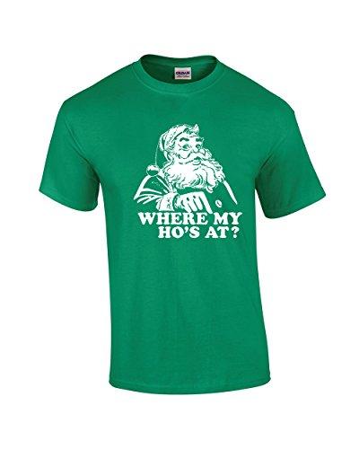Crazy Bros Tees Where My Ho'S At Funny Santa X-Mas Premium Men's T-Shirt