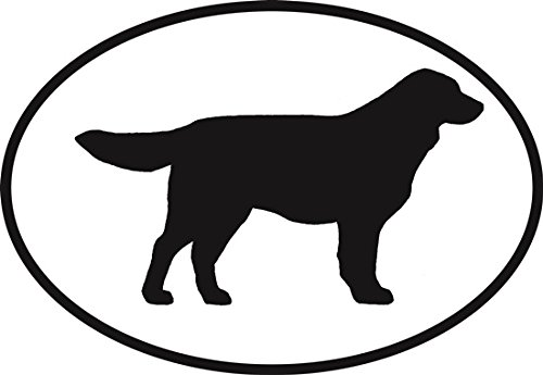 Golden Retriever Euro Oval Bumper Sticker