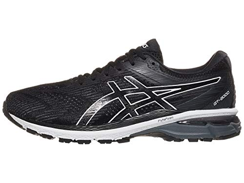 ASICS Men's GT-2000 8 (2E) Shoes, 12W, Black/White