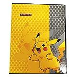 Porta tarjetas de Pokemon compatible con carpeta Carpeta coleccionable de tarjetas coleccionables GX EX Tarjetas de entrenador Álbumes 20 páginas pueden contener hasta 160 tarjetas Cubierta de Pikachu