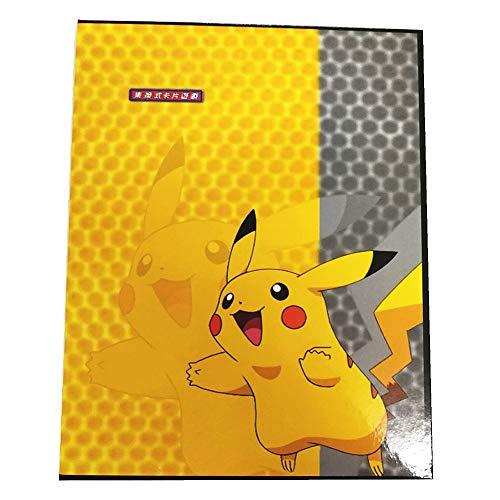 Porte Cartes Pokemon Compatible Cartable pour Cartes de Collection à Collectionner GX EX Trainer Cards Albums 20 Pages pouvant contenir jusqu'à 160 Cartes Pikachu Couverture