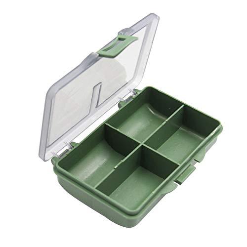 Lecez Caja de Medicina separada, Materiales de Alto Valor, Materiales ecológicos multifuncionales Pueden almacenar vitaminas de Aceite hepático, Suplementos, Verde, 10.5x7.5x5.5cm (tamaño : C)