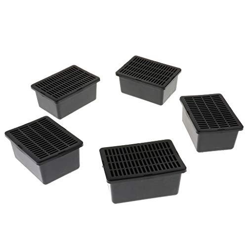 Homyl 5 Pcs Boîte de Transparent Récipient en Acrylique Carré avec Couvercle Haut Qualité pour Tortue Grenouille Reptile Amphibiens Décoration Maison