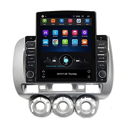ADMLZQQ Doppio DIN Android Car Stereo in-Dash Navigazione GPS per Honda Jazz City 2002-2007, Touchscreen da 9,7 Pollici, Bluetooth FM SWC Videocamera Vista Posteriore,Ts100 WiFi:1+16g,Manual