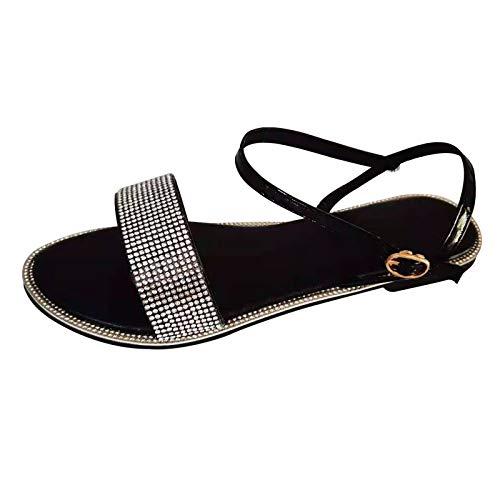 Geilisungren Frauen Flache Sandalen Sommer Offene Schuhe Casual Plattform Rom Damen Elegante Flip Flops Freizeit Strandsandalen
