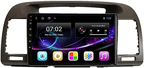 Android 10.0 Radio de navegación GPS compatible con Toyota Camry 2001-2006 Navegación GPS Unidad principal de 9 pulgadas Pantalla táctil HD Reproductor multimedia Video MP5 con WiFi DSP SWC Mirrorink