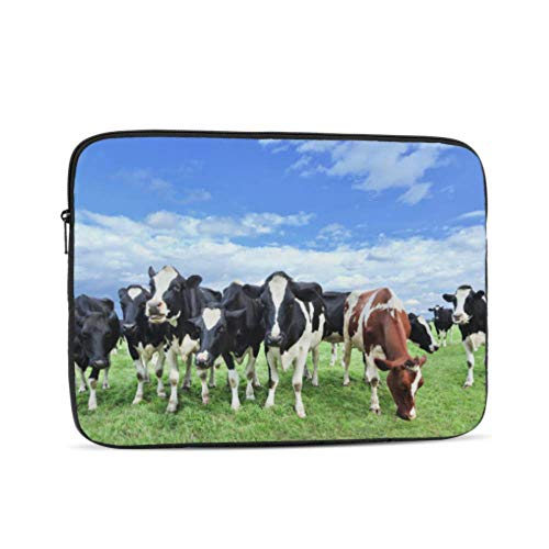 MacBook Air Case A1466 Holstein Friesian Cattle Vast Green Dutch Meadow Accessories for MacBook Pro Multi-Color & Size Choices 10/12/13/15/17 Inch Computer Tablet Briefcase Carrying Bag