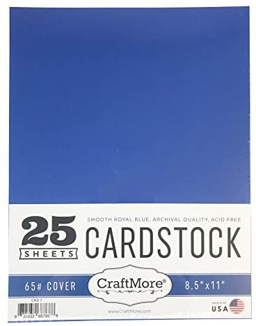 CraftMore Card Stock Paper Value Pack 12 by 12 Inches 25 Sheets Black