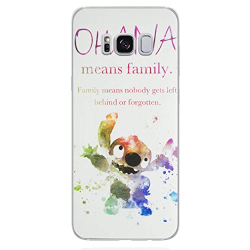 iCHOOSE beschermhoes van gel voor Smartphone Disney Art de Fan Samsung Galaxy S7 Edge Ohana Citation