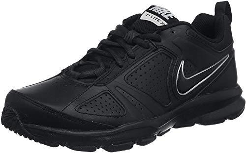 Nike T-Lite XI, Scarpe da Ginnastica Uomo, Nero (Black/Black-Metallic Silver), 42 EU (7.5 UK)