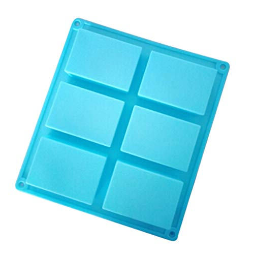 XUNMEI Silicone Mould for Cake Bakeware Set DIY Chocolate Candy Kitchen 6-Cavity Rectangle Soap Mold Craft Making Homemade
