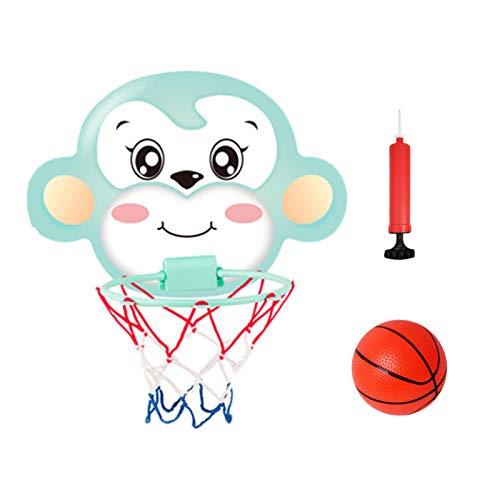 DUTUI Aro De Baloncesto para Niños, Aro De Baloncesto para Interior Colgante, Juguetes Montados En La Pared De Dibujos Animados para Niños, Regalos De Cumpleaños para Niños,D