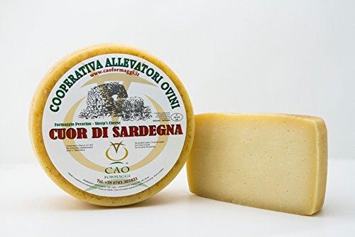 3.5 kg - Cuor di Sardegna. Pecorino. Cao Formaggi Pecorino realizzato in Sardegna, da tavola. Formaggio di pecora sardo semistagionato Stagionatura - almeno 3 mesi