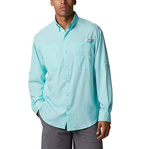 Columbia Tamiami II - Camisa de Manga Larga para Hombre Tamiami II, Hombre, Tamiami II Camisa de Manga Larga, 128606, Flujo del Golfo/Borde de árbol Real, XL