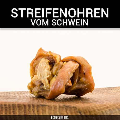 George & Bobs Schweineohrstreifen - 1000g - Knuspriger Snack aus Schweineohren - 100% Natürlich - 100% Gesund - 100% vom Schwein