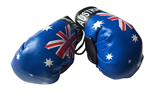 Flagge Mini Kleine Boxhandschuhe zum Aufhängen über Auto Automobil-Spiegel–Südamerika, Country: Australia