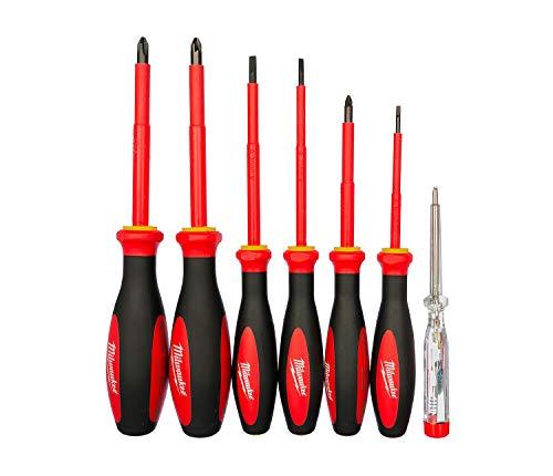 Milwaukee MW4932464067 Set de destornilladores, rosso