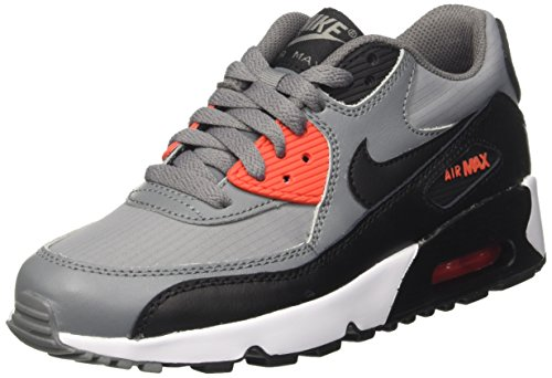 Nike Air 90 Mesh GS, Sandalias con Plataforma Niñas, Gris (Cool Grey/Black/MAX Orange/White), 36.5 EU