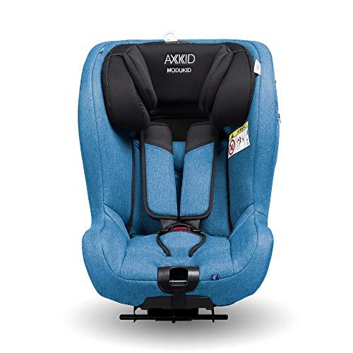 AXKID MODUKID SEAT Silla de Coche Grupo 0 y 1, Asiento de Automóvil para Niños de 0-18 Kg, Sillita para Coche, Silla de Coche de Bebé de 0 a 4 Años, Silla para 61-105 Cm (Azul)
