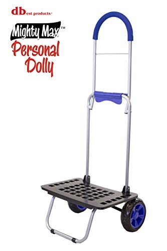 dbest products Bigger Mighty Max Personal Dolly, Blue Handtruck Cart Hardware Garden...