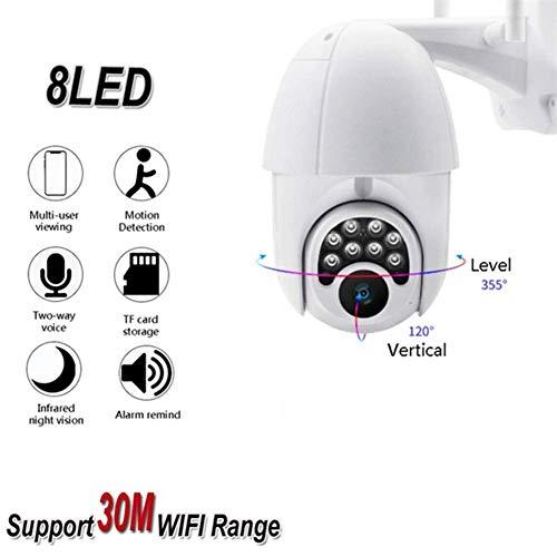 nobrand 1080P 2MP Außenkamera wasserdichte Kamera mit 6X elektronischen Zoom Pan Tilt IP-Kamera IR-Kamera Bewegungserkennung Kameras mit Nachtsicht Intelligente Kamera-Diebstahlsicherung