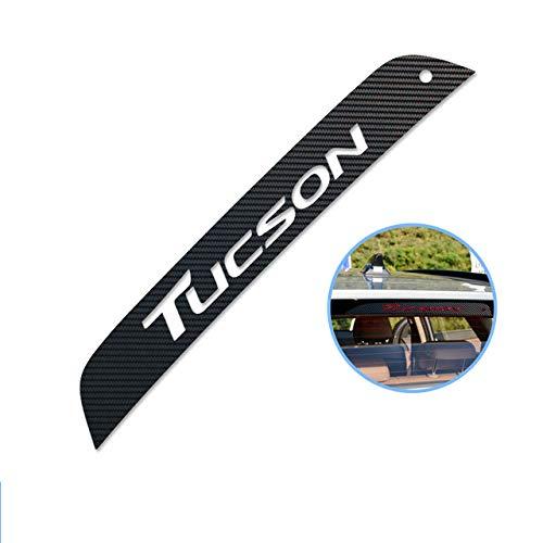 TAYDMEO Auto Styling 3D Kohlefaser Embleme Aufkleber, für Hyundai Tucson 3. 2016 2017, Bremslicht Dekoration Abdeckung Aufkleber Auto Zubehör Styling