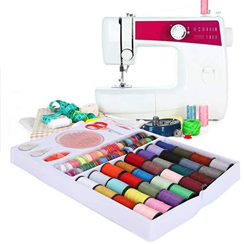 Kit de costura pequeño Kit de costura de 64 rollos, para viajeros, adultos, principiantes, emergencias, kit de costura para principiantes de bricolaje