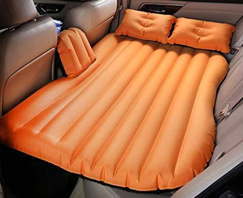 Auto-Luftmatratze, für Geländewagen, Rücksitz für Erwachsene, Reisebett, Outdoor-Camping, Schlafmatratze, Farbe: Trampolin, Orange