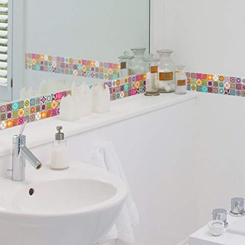 Ambiance - Adhesivo decorativo para azulejos, acrílico, 30 x 30 cm, diseño de Catarina, 30 x 30 cm