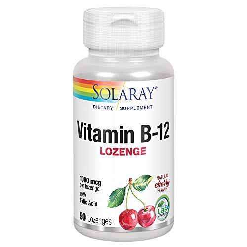 Solaray Vitamin B-12 1000mcg | Cereza | 90 Lozenges