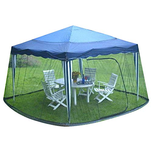 Jurong Outdoor Steel Tube Tent Mosquito Netting - Polyester Mesh Screen with Zipper Opening and...