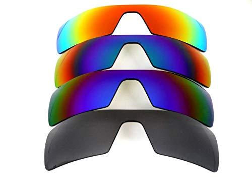 Galaxy lentes de repuesto para Oakley Oil Rig negro y azul y verde y púrpura Color Gafas de sol 4 Pares Polorized,GRATIS S & H - negro y azul y verde y púrpura