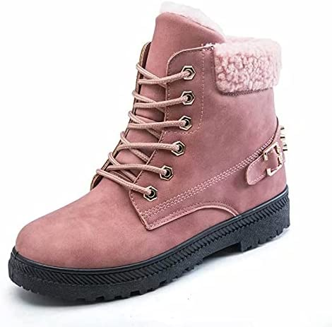 Womens Water Resistant PU Leather Winter Boots