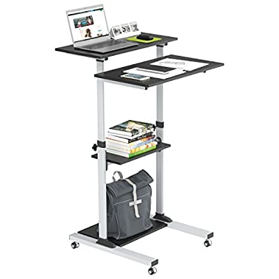 1homefurnit Mobile Table Laptop Desk Stand Notebook Cart Tray Compact Adjustable Workstation …