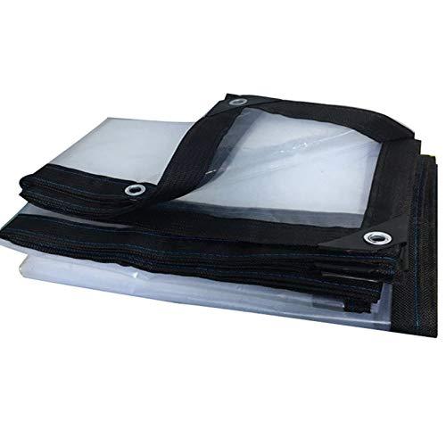 WAJIEFD Lona Transparente Impermeable Resistente Al Polvo Resistente A La Lluvia Película De Plástico Plegable,Personalización De Soporte (Color : Clear-0.12MM, Size : 4X10M)