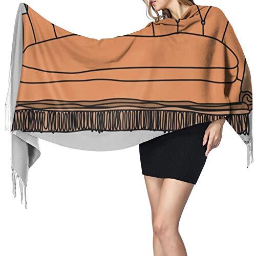 Friends Sofa - Chal largo y cálido para mujer, bufandas grandes, sensación de cachemira, bufanda larga